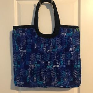 Blue Woven Guatemalan Artisan Beach Bag